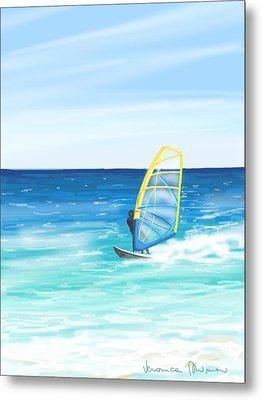 Windsurf Metal Print by Veronica Minozzi