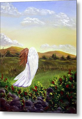Windswept Angel Metal Print