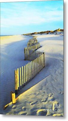 Windswept At Sunset - Jersey Shore Metal Print by Joseph J Stevens