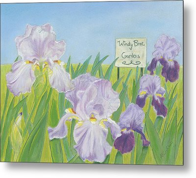 Metal Print featuring the painting Windy Brae Gardens by Arlene Crafton