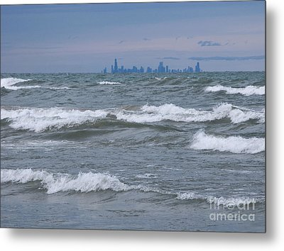 Windy City Skyline Metal Print