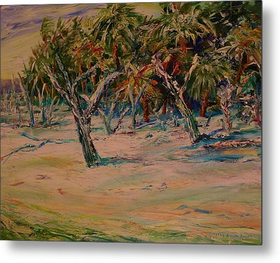 Windy Day At Botany Island Metal Print by Dorothy Allston Rogers