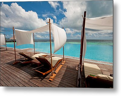 Windy Day At Maldives Metal Print