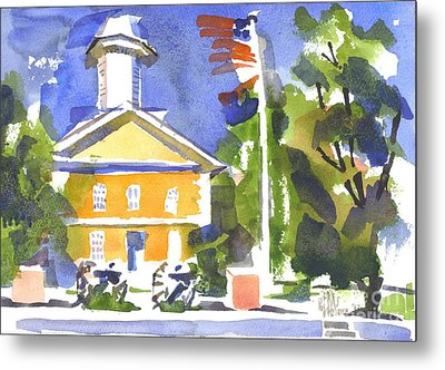 Windy Day At The Courthouse Metal Print by Kip DeVore