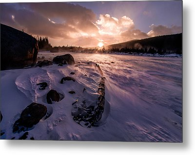Metal Print featuring the photograph Windy Sunrise by Steven Reed