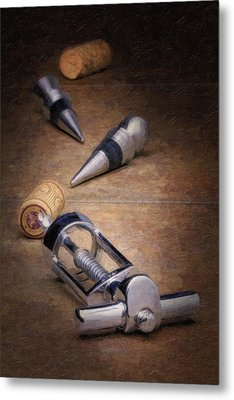 Wine Accessory Still Life Metal Print by Tom Mc Nemar