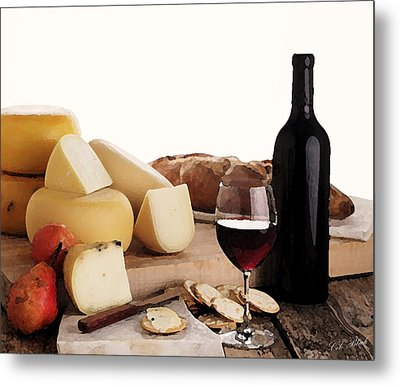 Wine And Cheese Metal Print by Cole Black