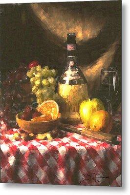 Wine And Fruit Metal Print