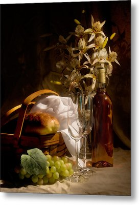 Wine And Romance Metal Print by Tom Mc Nemar