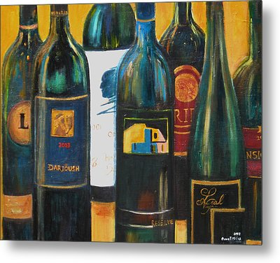 Metal Print featuring the painting Wine Bar by Sheri  Chakamian
