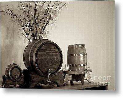 Wine Barrels Metal Print by Alanna DPhoto