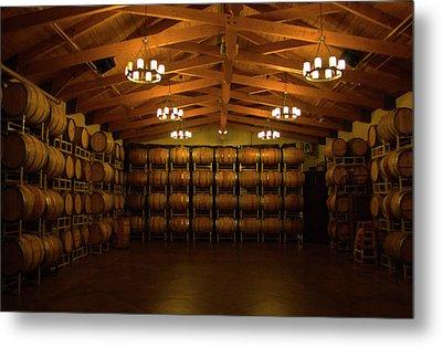 Wine Barrels Metal Print