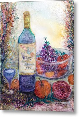 Wine Bottle Selection  Metal Print by Anais DelaVega