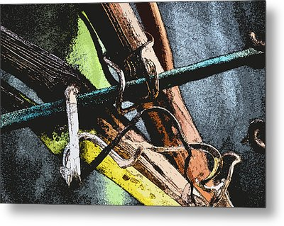 Wine Branches Metal Print