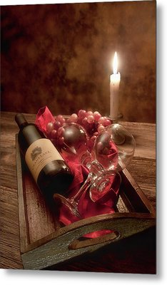 Wine By Candle Light I Metal Print by Tom Mc Nemar