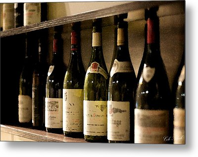 Wine Cellar Metal Print by Cole Black