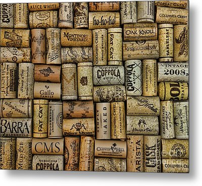 Wine Corks After The Wine Tasting Metal Print by Paul Ward