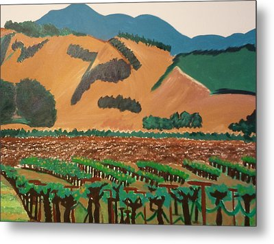 Wine Country  Metal Print by Kathleen Fitzpatrick