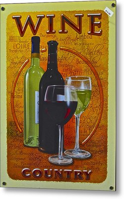 Wine Country Metal Print by Frozen in Time Fine Art Photography