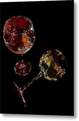 Wine Glasses  Metal Print by Cindy Edwards