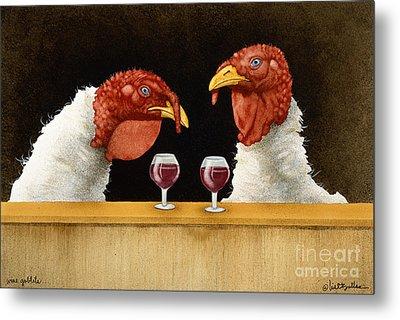 Wine Goblets... Metal Print by Will Bullas