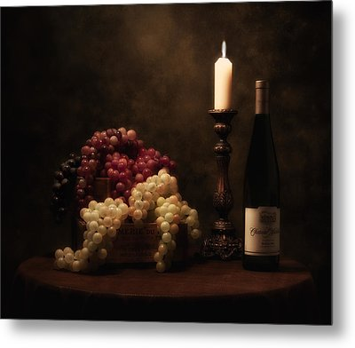 Wine Harvest Still Life Metal Print
