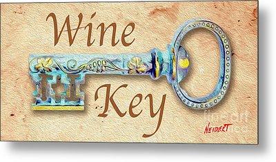 Wine Key Painting  Metal Print
