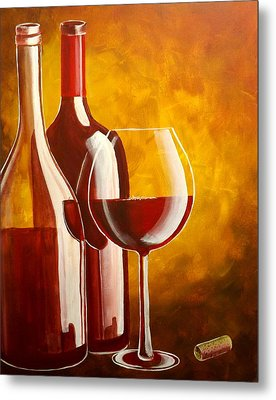 Wine Not Metal Print by Darren Robinson