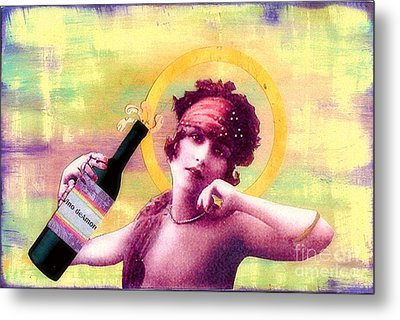 Metal Print featuring the painting Wine Of Love by Desiree Paquette