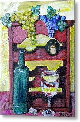 Wine Rack  Metal Print by Melissa Torres