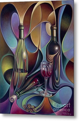 Wine Spirits Metal Print by Ricardo Chavez-Mendez
