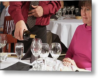 Wine Taster Metal Print by Jim West