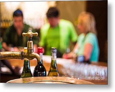 Wine Tasting Metal Print by Pavel Prichystal