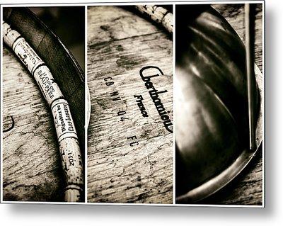Wine Tasting Triptych Metal Print