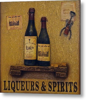 Wine Time Metal Print by Frozen in Time Fine Art Photography