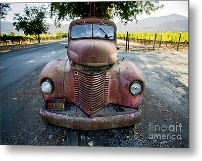 Wine Truck Metal Print by Jon Neidert