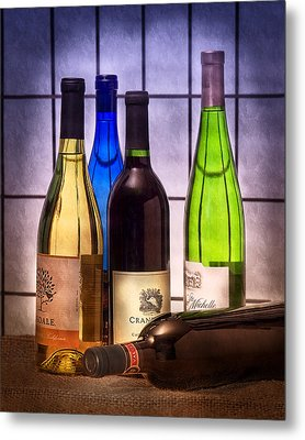 Wines Metal Print by Tom Mc Nemar