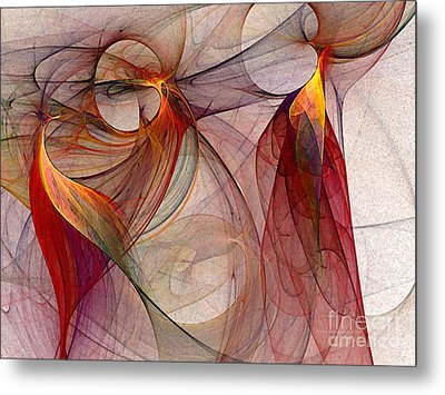 Winged-abstract Art Metal Print by Karin Kuhlmann