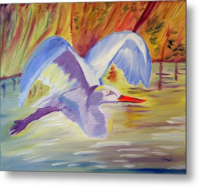 Winged Creation Metal Print