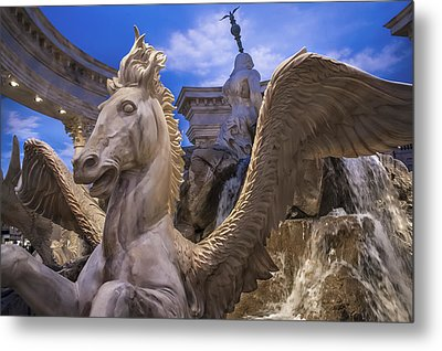Winged Horse Metal Print by Glenn DiPaola