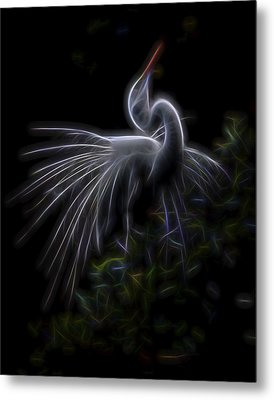 Metal Print featuring the digital art Winged Romance 2 by William Horden