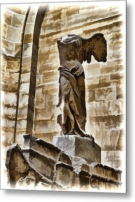 Winged Victory - Louvre Metal Print by Jon Berghoff