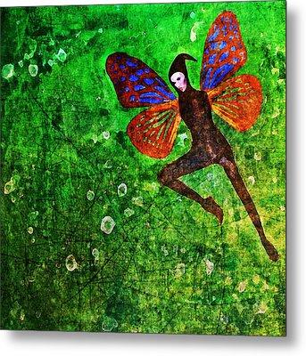 Metal Print featuring the digital art Wings 10 by Maria Huntley