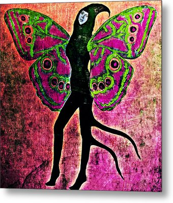 Metal Print featuring the digital art Wings 11 by Maria Huntley