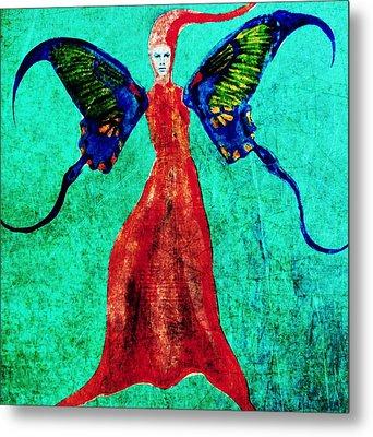 Metal Print featuring the digital art Wings 13 by Maria Huntley