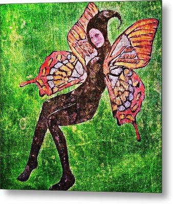 Metal Print featuring the digital art Wings 17 by Maria Huntley