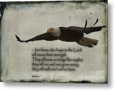 Wings Like Eagles Metal Print