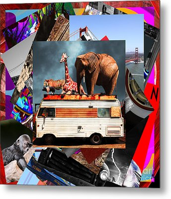 Wingsdomain Art And Photography Collage 20130108 V4 Metal Print by Wingsdomain Art and Photography