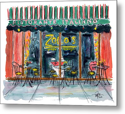 Wining And Dining Metal Print