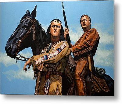 Winnetou And Old Shatterhand Metal Print by Paul Meijering